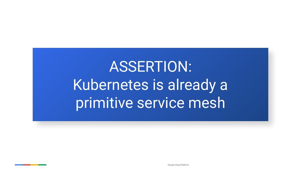 Google Cloud Platform ASSERTION: Kubernetes is ...