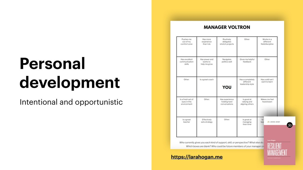 Personal development Intentional and opportunis...