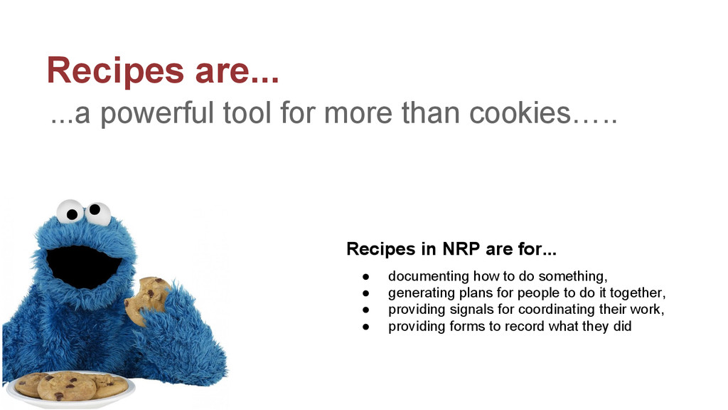 Recipes are... ...a powerful tool for more than...