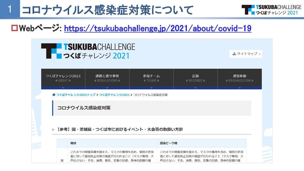 Webページ: https://tsukubachallenge.jp/2021/about...