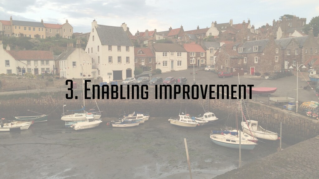 3. Enabling improvement
