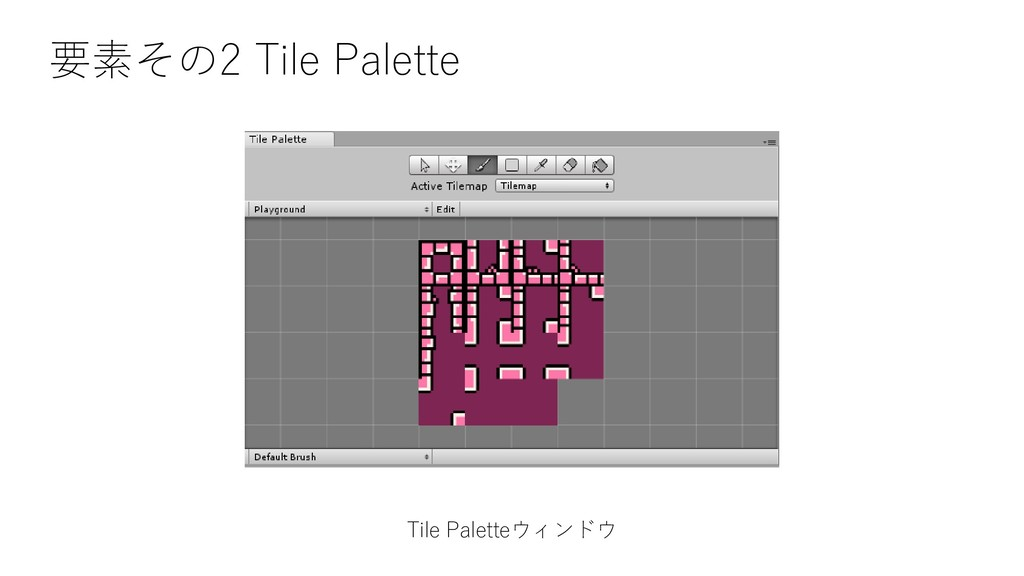 Tile Paletteウィンドウ 要素その2 Tile Palette