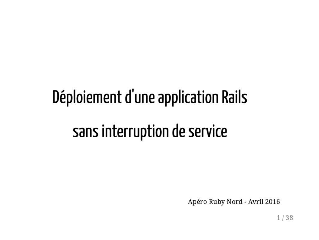 Déploiement d'une application Rails sans interr...