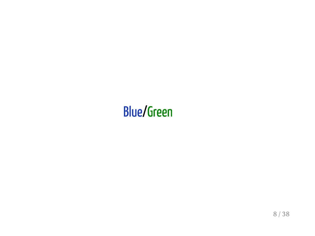 Blue/Green 8 / 38