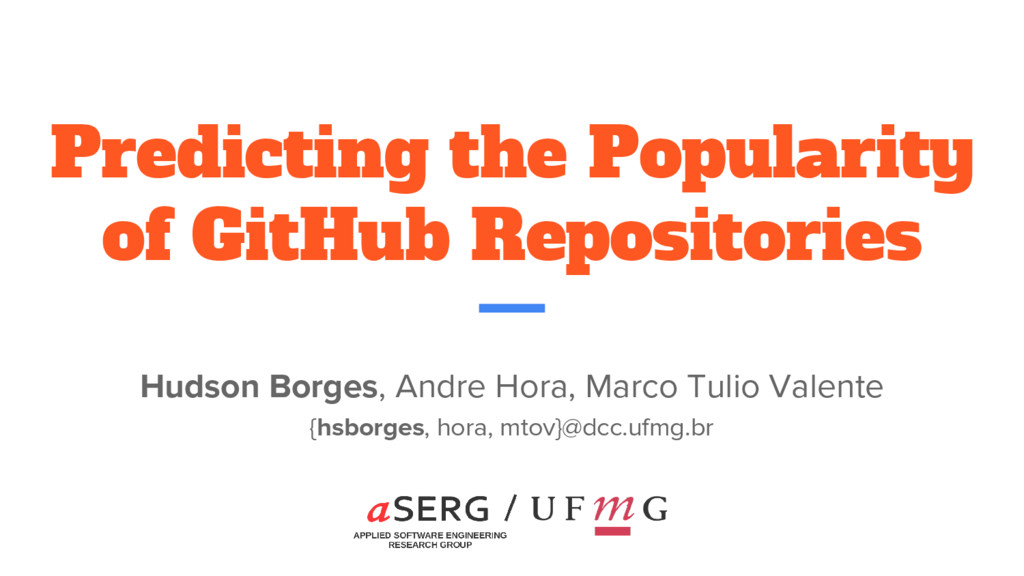 Predicting the Popularity of GitHub Repositorie...