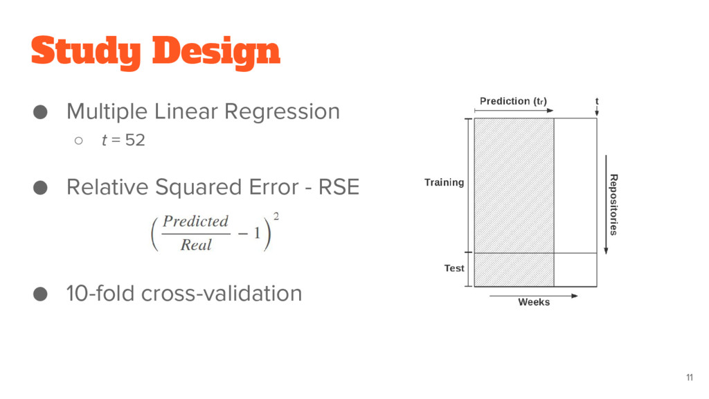 Study Design ● Multiple Linear Regression ○ t =...