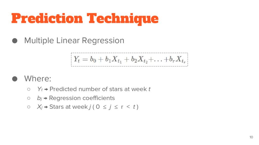 Prediction Technique ● Multiple Linear Regressi...