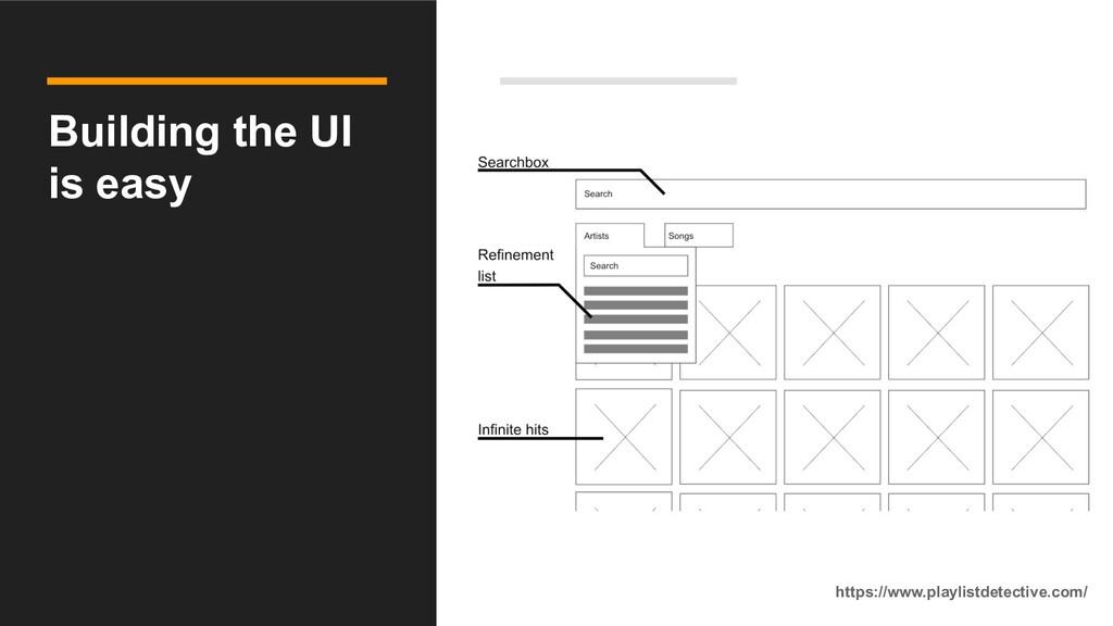 Building the UI is easy https://www.playlistdet...