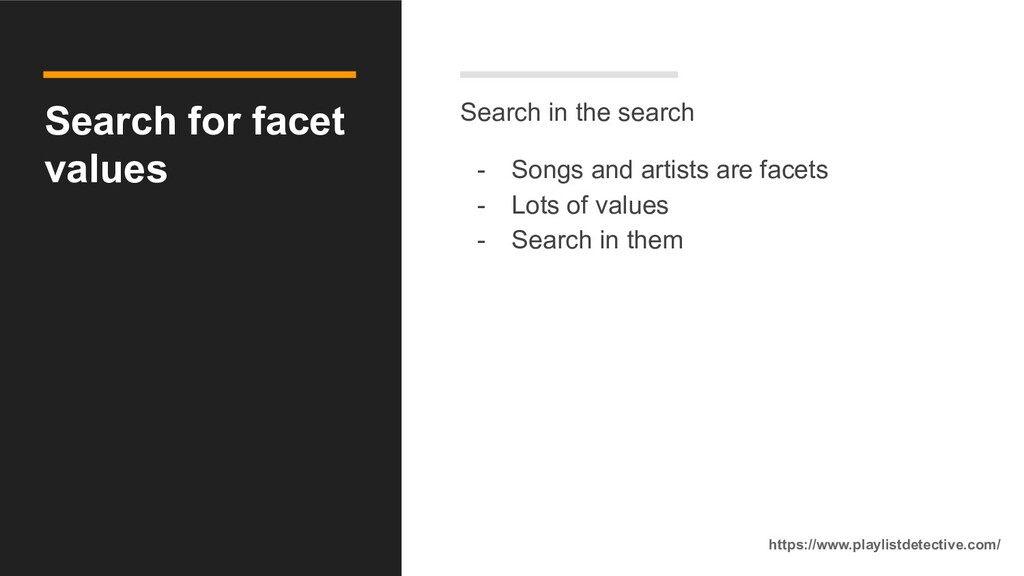 Search for facet values Search in the search - ...