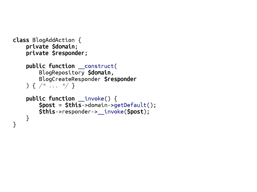 class BlogAddAction { private $domain; private ...