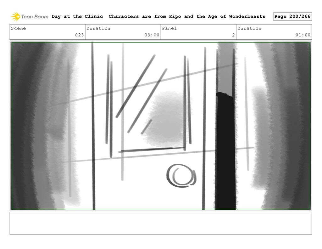 Scene 023 Duration 09:00 Panel 2 Duration 01:00...