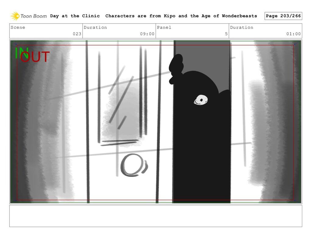 Scene 023 Duration 09:00 Panel 5 Duration 01:00...