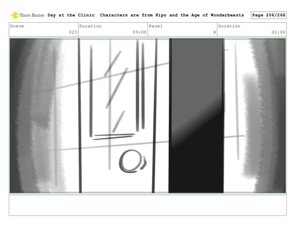 Scene 023 Duration 09:00 Panel 8 Duration 01:00...