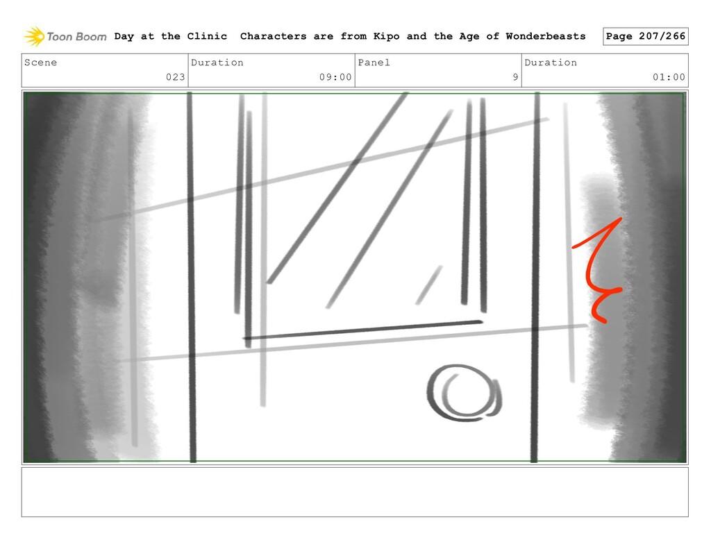 Scene 023 Duration 09:00 Panel 9 Duration 01:00...