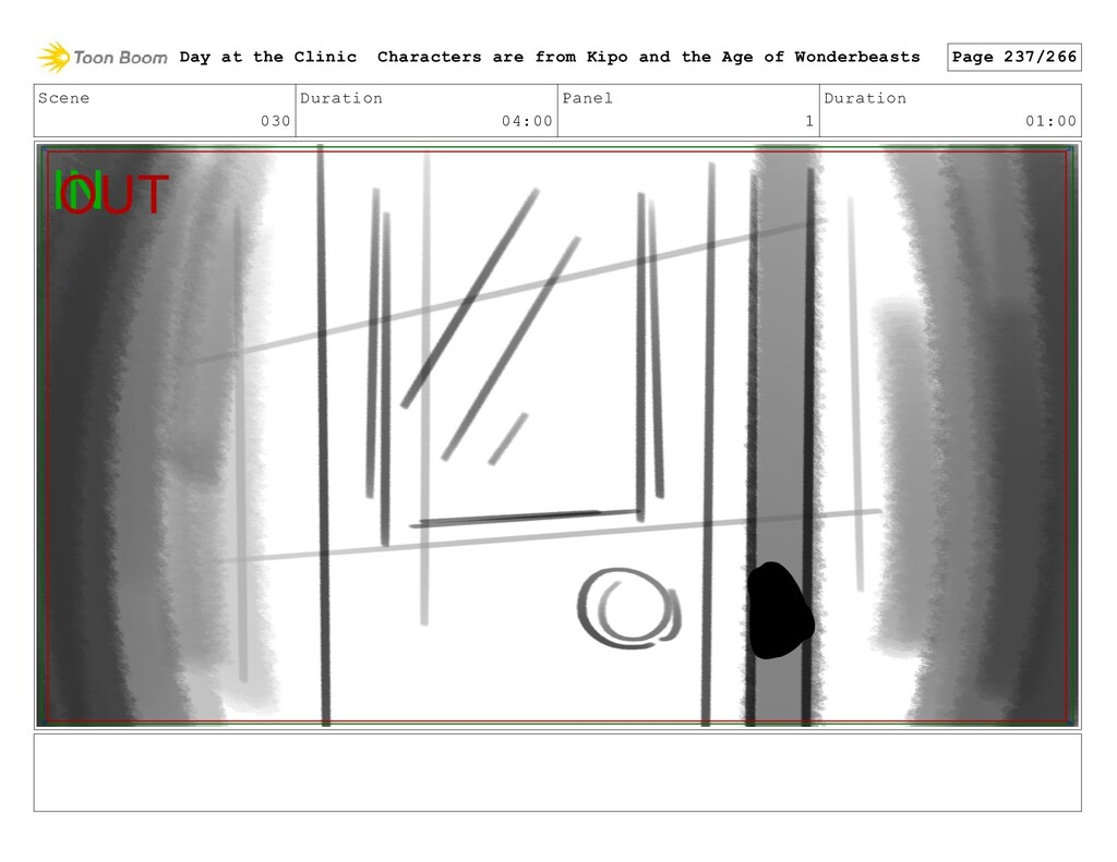 Scene 030 Duration 04:00 Panel 1 Duration 01:00...