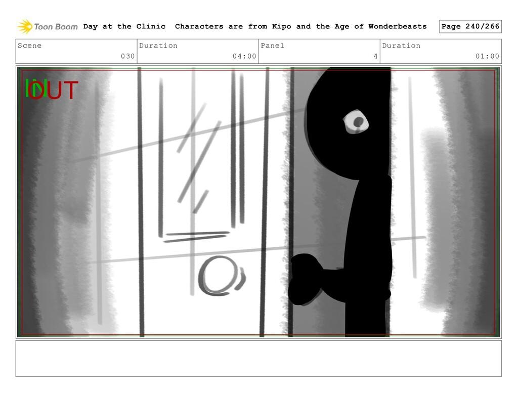 Scene 030 Duration 04:00 Panel 4 Duration 01:00...