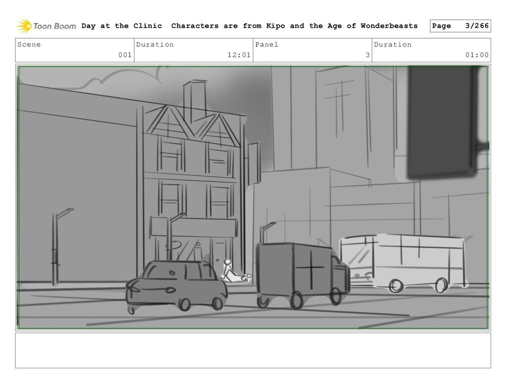 Scene 001 Duration 12:01 Panel 3 Duration 01:00...