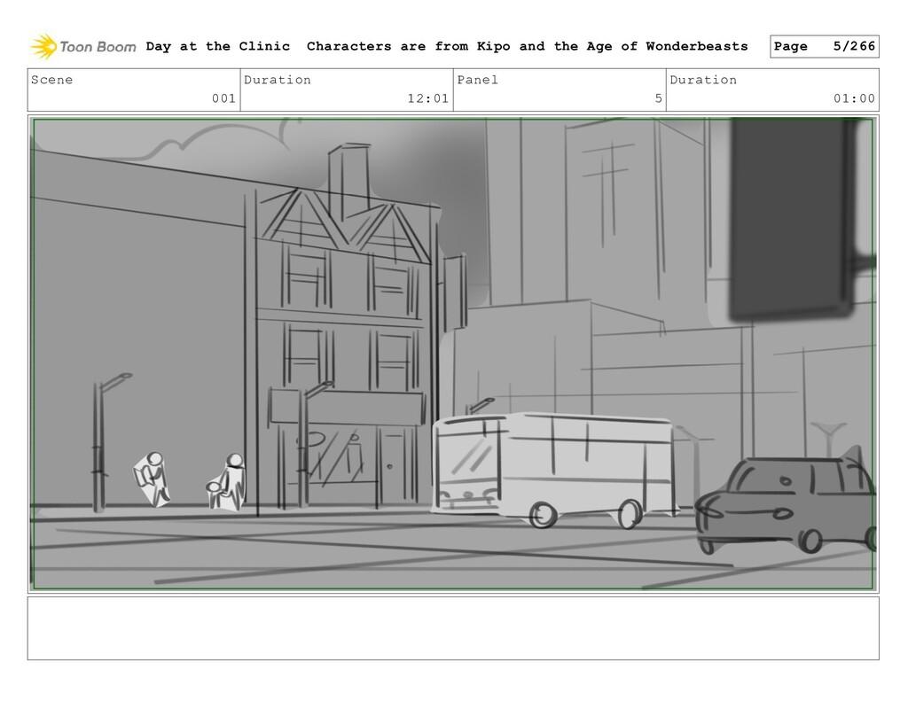 Scene 001 Duration 12:01 Panel 5 Duration 01:00...