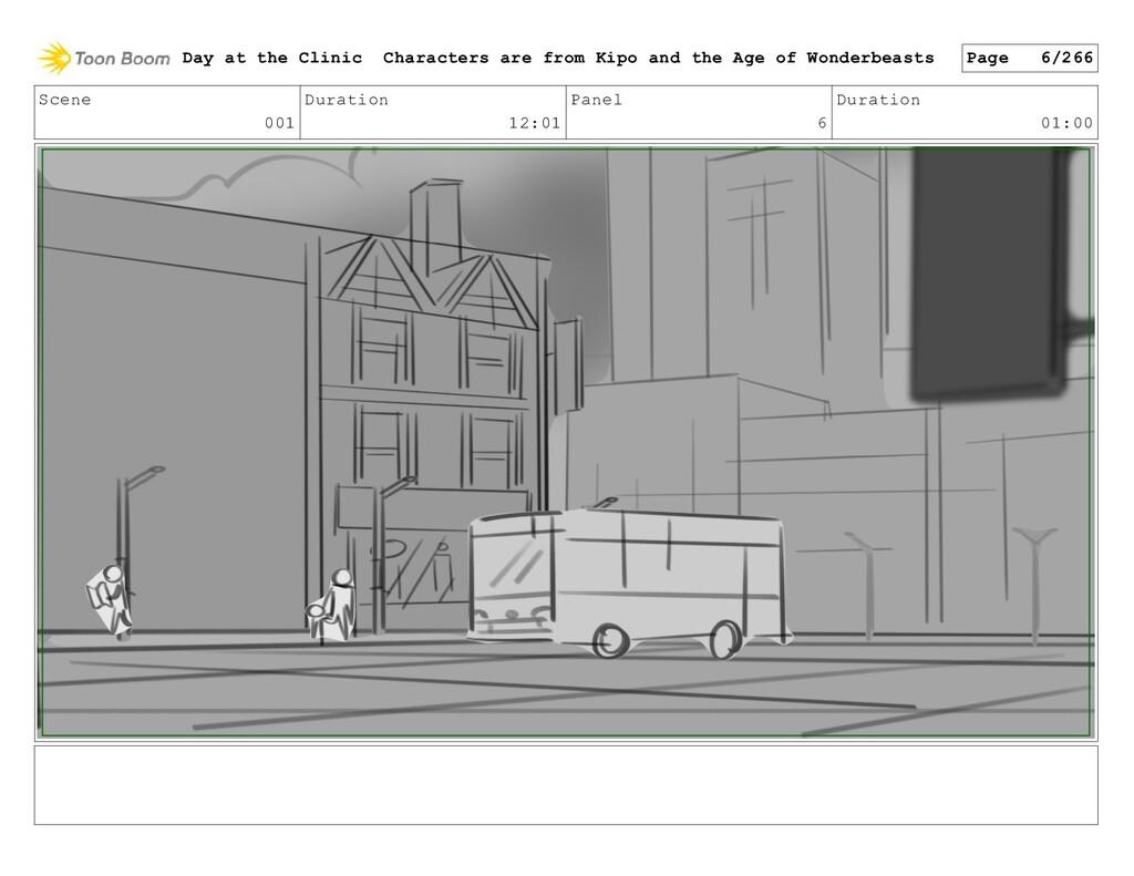 Scene 001 Duration 12:01 Panel 6 Duration 01:00...