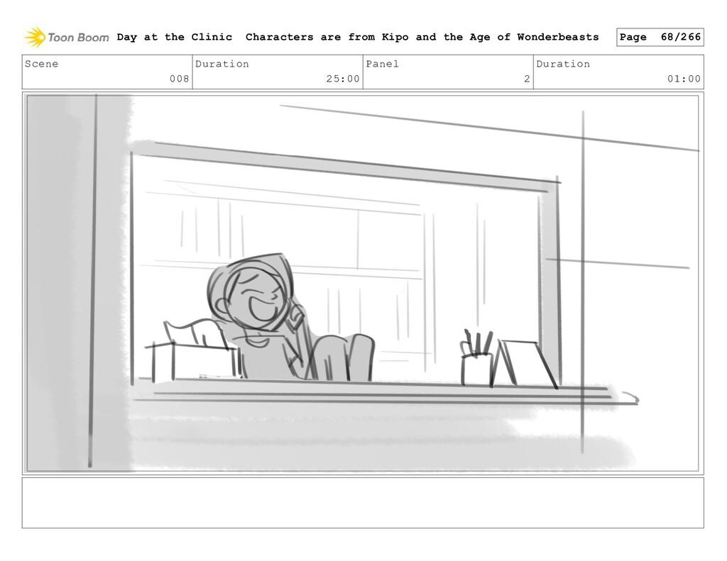 Scene 008 Duration 25:00 Panel 2 Duration 01:00...