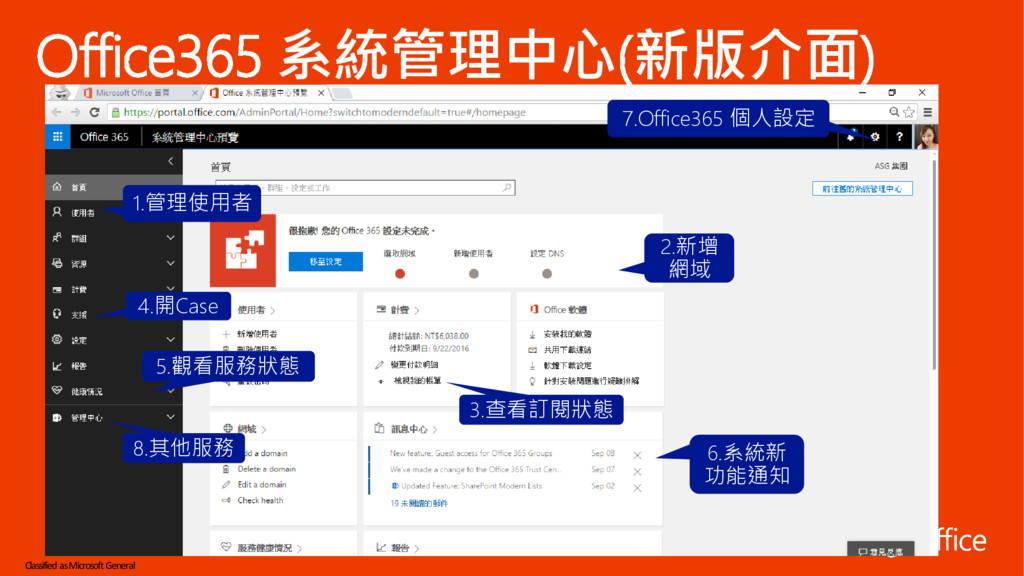 Classified as Microsoft General Office365 系統管理中...