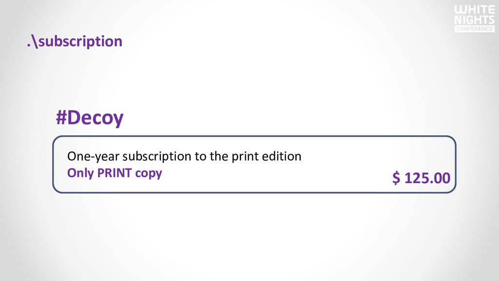 One-year subscription to the print edition Only...