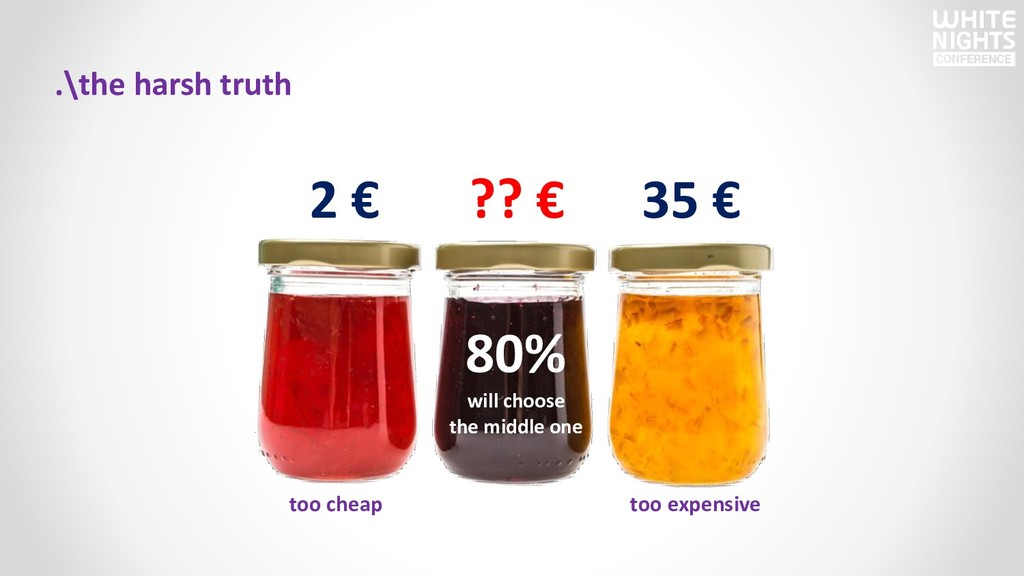 .\the harsh truth 2 € ?? € 35 € 80% will choose...