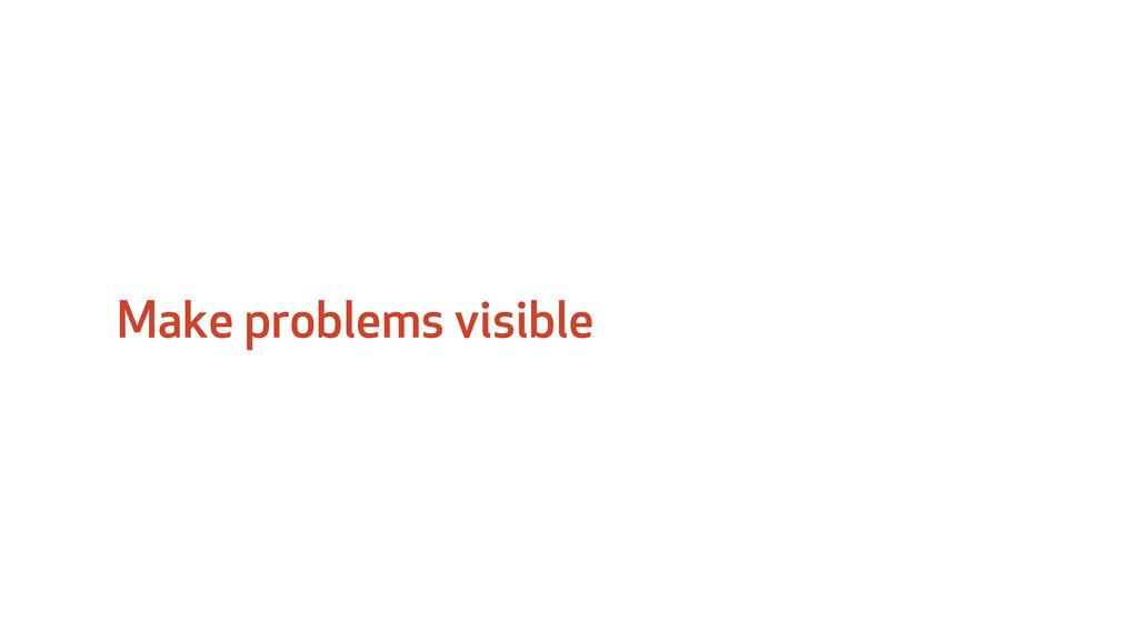 Make problems visible