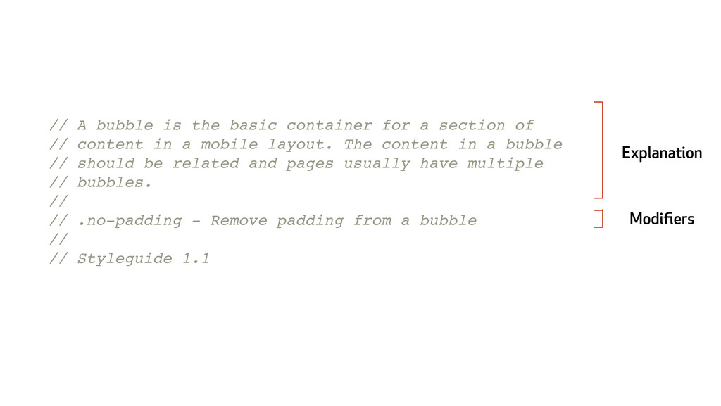 // A bubble is the basic container for a sectio...