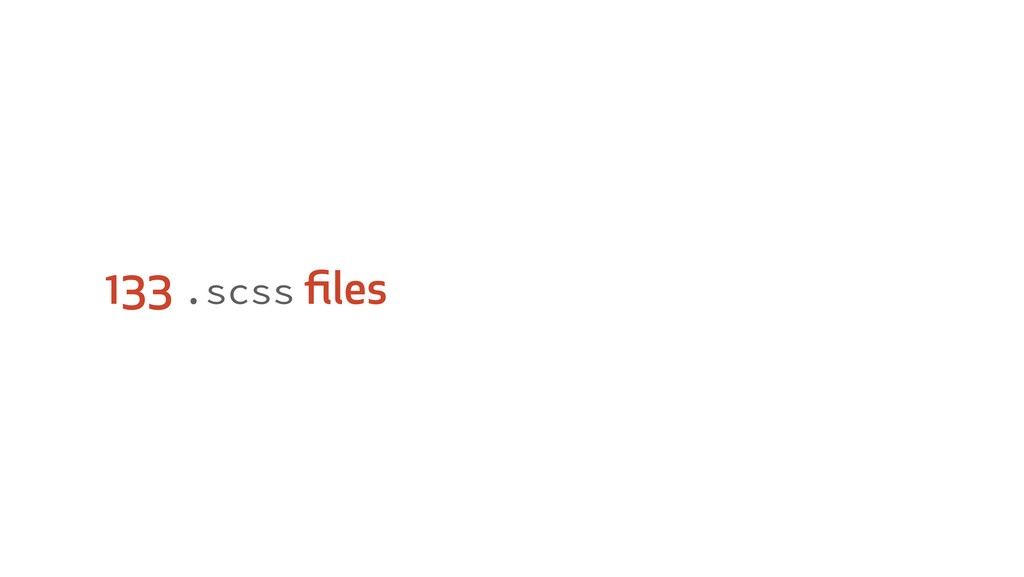 133 .scss files