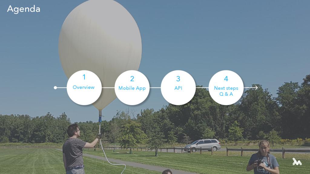 Agenda Next steps Q & A 4 API 3 Mobile App 2 Ov...