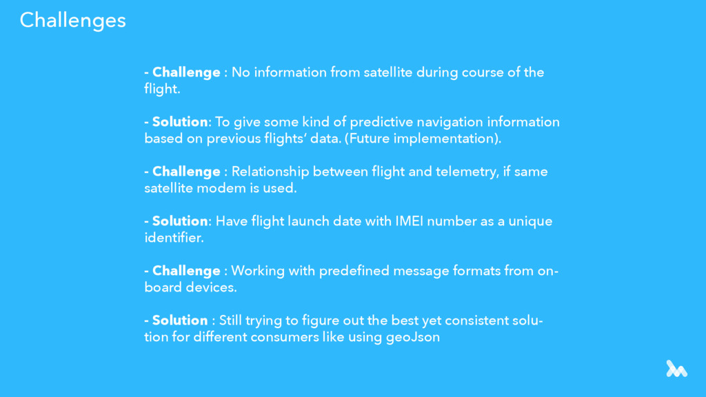 Challenges - Challenge : No information from sa...