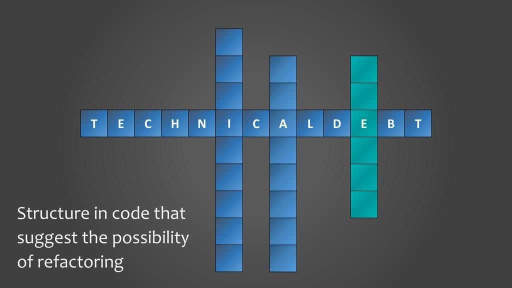 T E C H N II C A L D E B T Structure in code th...