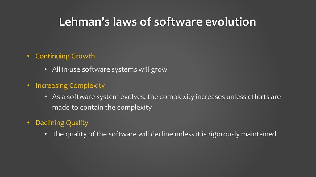 • Continuing Growth • All in-use software syste...