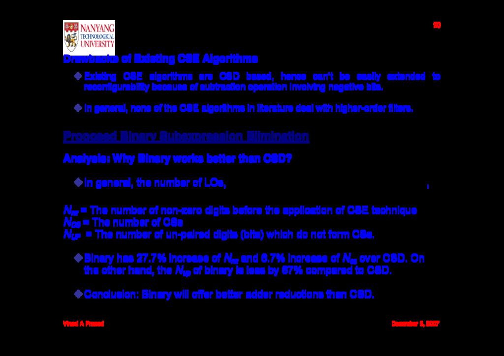 Vinod A Prasad December 6, 2007 20 Drawbacks of...
