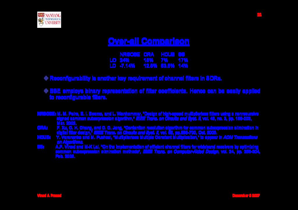 Vinod A Prasad December 6 2007 22 Over-all Comp...