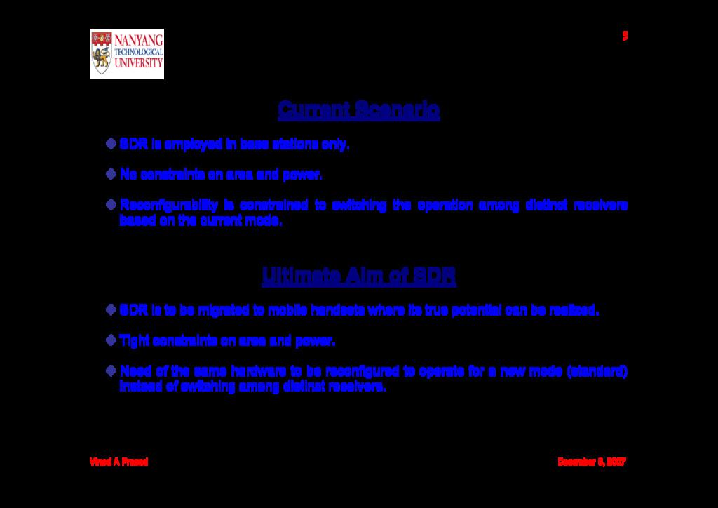 Vinod A Prasad December 6, 2007 5 Current Scena...