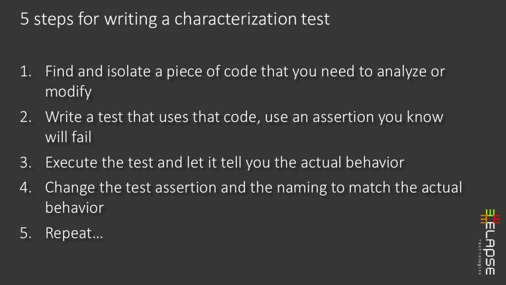 1. Find and isolate a piece of code that you ne...