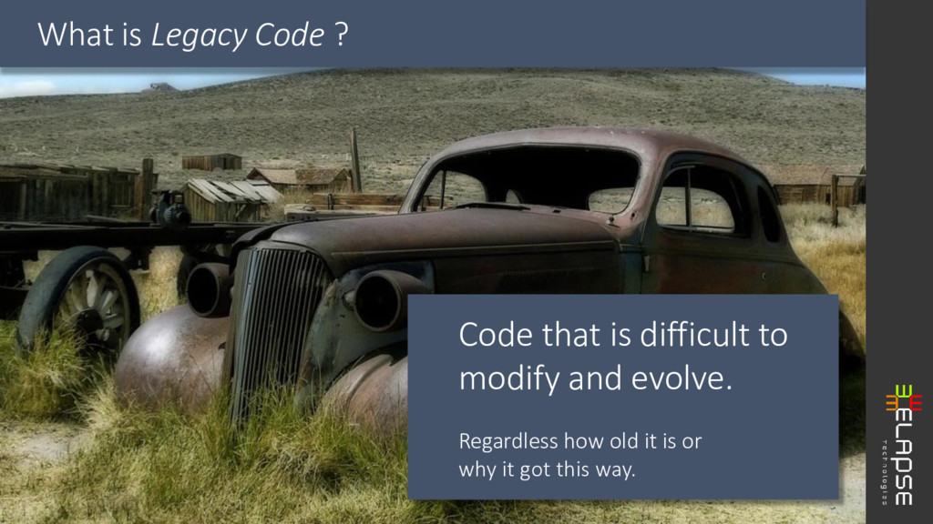 Code that is difficult to modify and evolve. Re...