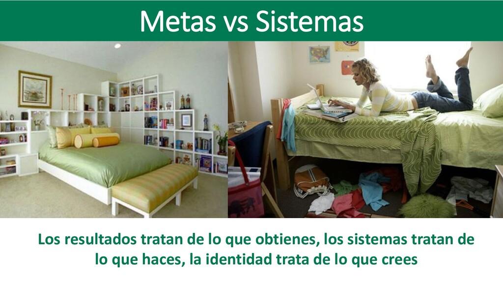 Metas vs Sistemas Los resultados tratan de lo q...