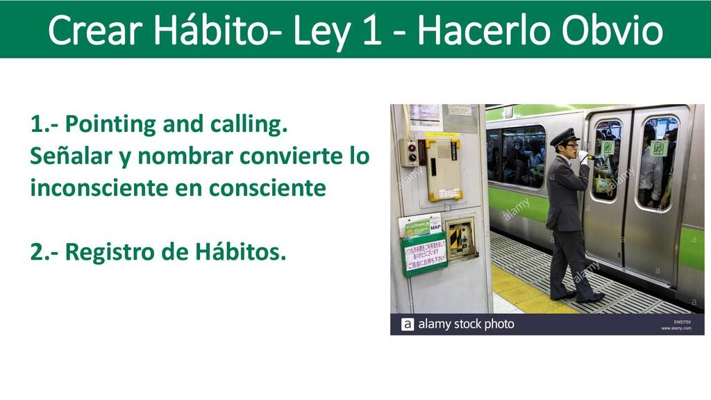 Crear Hábito- Ley 1 - Hacerlo Obvio 1.- Pointin...