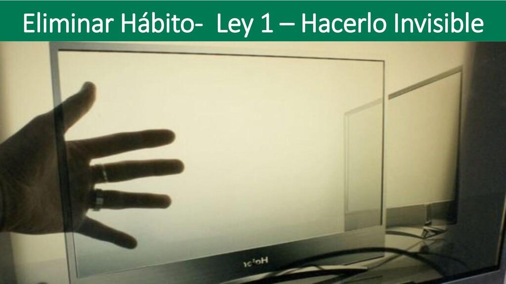 Eliminar Hábito- Ley 1 – Hacerlo Invisible