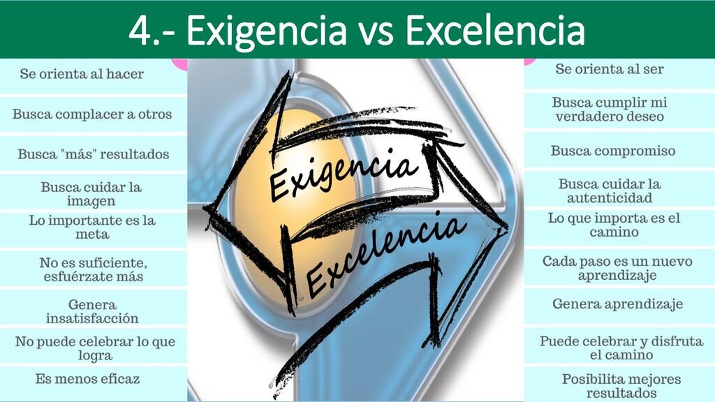 4.- Exigencia vs Excelencia