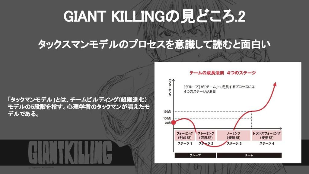 GIANT KILLINGの見どころ.2 タックスマンモデルのプロセスを意識して読むと面白い...