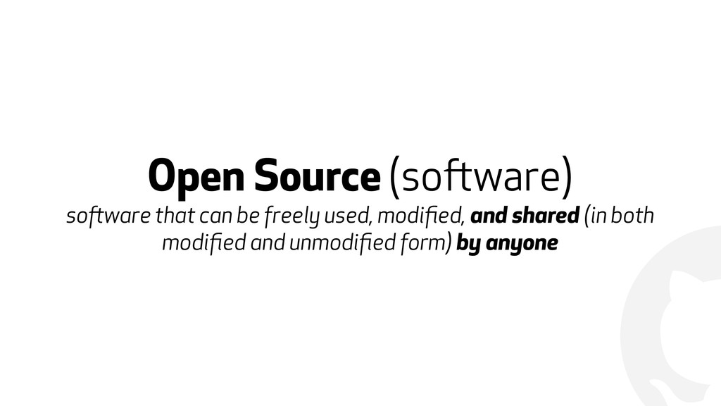! Open Source (software) software that can be ...