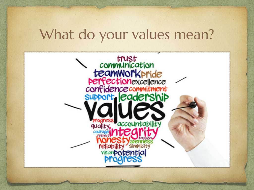 What do your values mean?