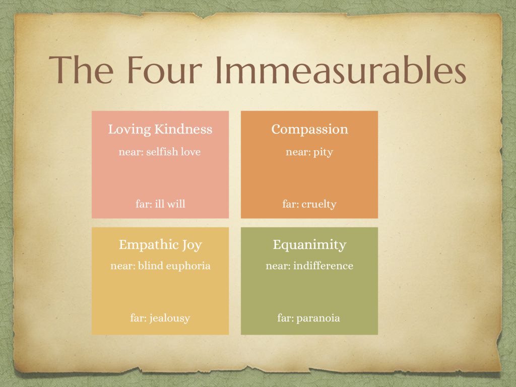 The Four Immeasurables Loving Kindness Compassi...