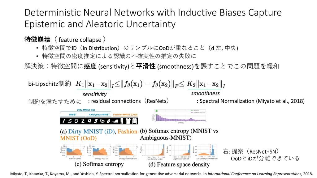 特徴崩壊( feature collapse ) • 特徴空間でiD(in Distribut...