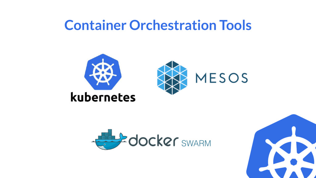 Container Orchestration Tools SWARM
