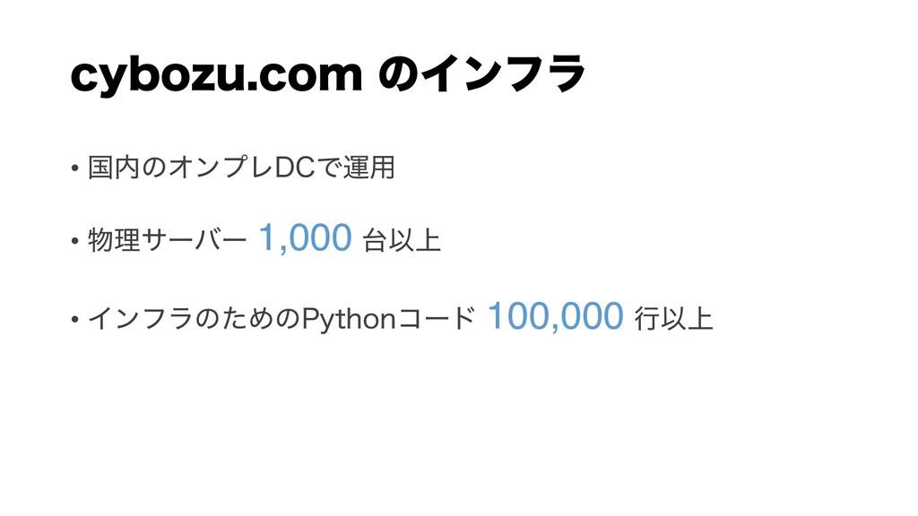 DZCP[VDPN ͷΠϯϑϥ • ࠃͷΦϯϓϨ%$Ͱӡ༻ • ཧαʔόʔ 1,000 ...